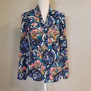 Express The portofino Shirt slim fit flowers